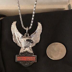 NWOT Men's Harley-Davidson Eagle Necklace